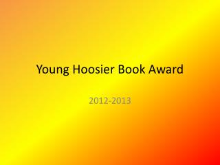 Young Hoosier Book Award
