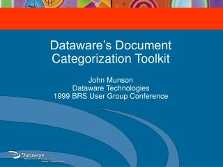Dataware's Document Categorization Toolkit