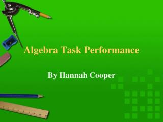 Algebra Task Performance