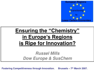 Fostering Competitiveness through Innovation.Brussels – 7 th March 2007.