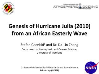 Genesis of Hurricane Julia (2010) from an African Easterly Wave