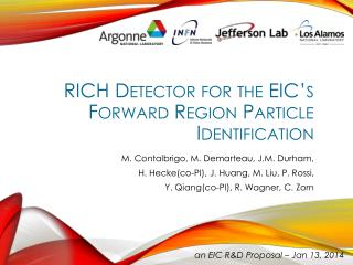 RICH Detector for the EIC's Forward Region Particle Identification