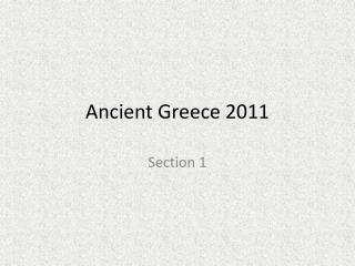 Ancient Greece 2011