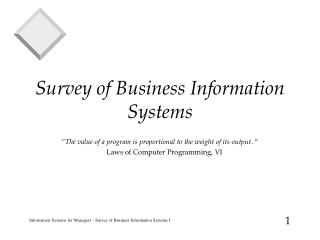 Survey of Business Information Systems