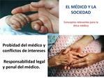 EL M DICO Y LA SOCIEDAD  Conceptos relevantes para la  tica m dica