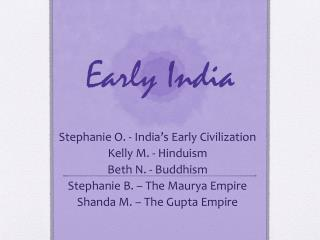 Early India