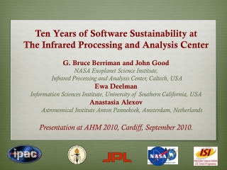 Ten Years of Software Sustainability at The Infrared Processing and Analysis Center