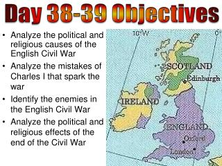 Analyze the political and religious causes of the English Civil War