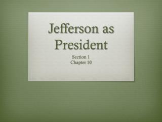 Jefferson as President