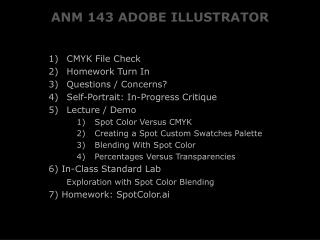 ANM 143 ADOBE ILLUSTRATOR