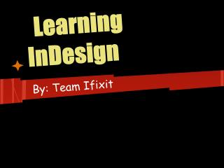 Learning InDesign