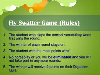Fly Swatter Game (Rules)