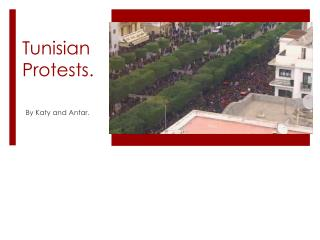 Tunisian Protests.