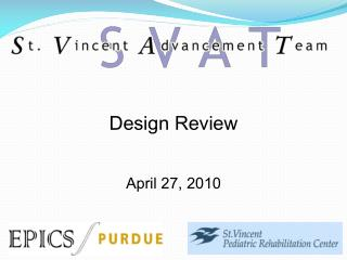 Design Review April 27, 2010