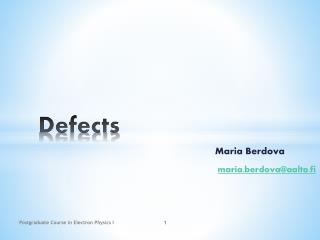 Defects