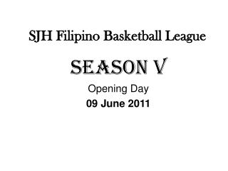 SJH Filipino Basketball League