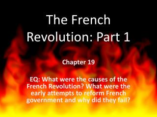 The French Revolution: Part 1