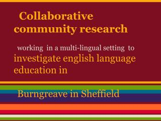 Collaborative community research