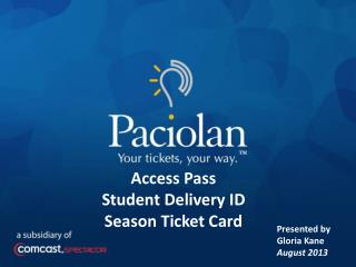 Access Pass  Student Delivery ID Season Ticket Card