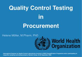 Quality Control Testing in Procurement