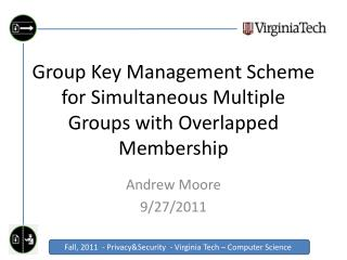 Group Key Management Scheme for Simultaneous Multiple Groups with Overlapped Membership