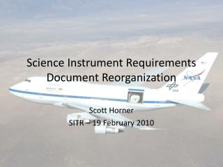 Science Instrument Requirements Document Reorganization