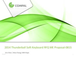 2014  Thunderball  Soft Keyboard RFQ ME  Proposal-0815