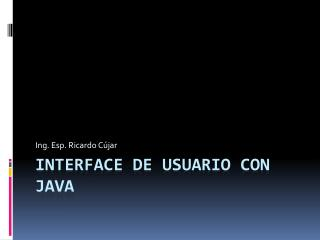 Interface de Usuario con Java