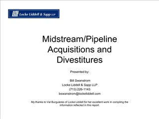 MidstreamPipeline Acquisitions and Divestitures