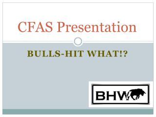 CFAS Presentation