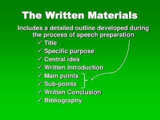 The Written Materials