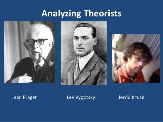 Analyzing Theorists