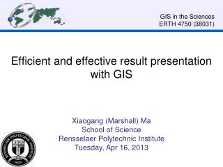 Efficient and effective  result  presentation with GIS