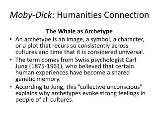 Moby-Dick : Humanities Connection