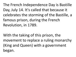 And what prison did these people get thrown into? The Bastille.