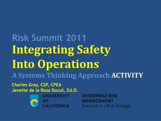 Risk Summit 2011