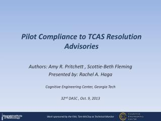 Pilot Compliance to TCAS Resolution Advisories