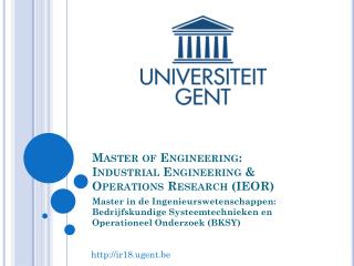 Master of Engineering: Industrial Engineering & Operations Research (IEOR)
