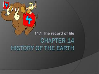 CHAPTER 14 HISTORY OF THE EARTH
