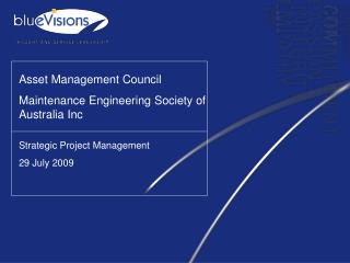 Asset Management Council  Maintenance Engineering Society of Australia Inc