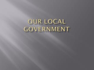 Our Local government