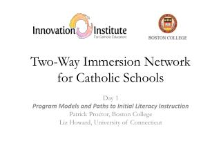 Two-Way Immersion Network for Catholic Schools