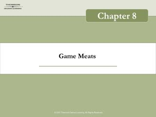 Game Meats