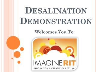 Desalination Demonstration