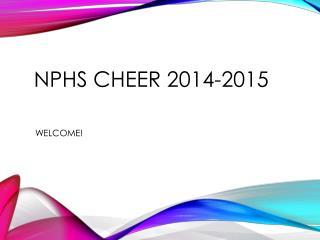 NPHS Cheer 2014-2015