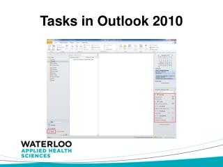 Tasks in Outlook  2010