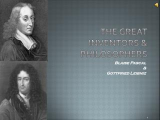 The Great Inventors & Philosophers