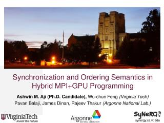 Synchronization and Ordering Semantics in Hybrid MPI+GPU Programming