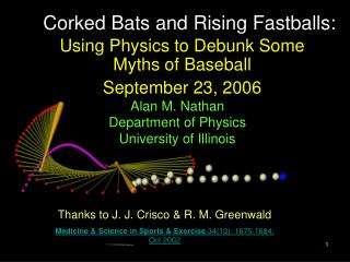 Corked Bats and Rising Fastballs:
