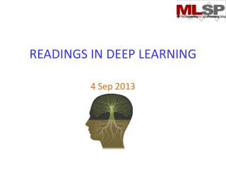 READINGS IN DEEP LEARNING